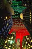 HIGH TECH DIGITAL CYBER CITY INDUSTRY TECHNOLOGY  Royalty Free Stock Photo