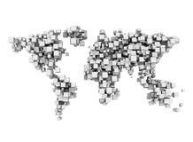 Digital world cubes stock photos