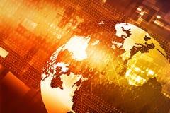 Digital world. Hi-tech technological background stock photography