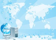 Digital world - Europe Royalty Free Stock Photo