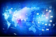 Digital world. Global internet technology Stock Image