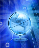 Digital World Globe Internet Stock Photography