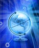 Digital World Globe Internet. A world globe on a computer circuit board background Stock Photography