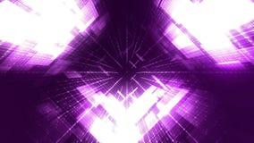 Digital World Loopable Background - purple. Digital Cyber World Looped Background - purple vector illustration