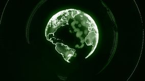 Digital World Made in Computer Graphics, World Connections Conce Stock Photos