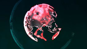 Digital World Made in Computer Graphics, World Connections Conce Stock Photography