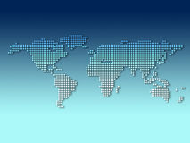 Digital world map. Digital world dot map with gradient background Royalty Free Stock Photo