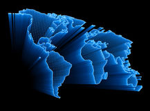 Digital World Map stock illustration