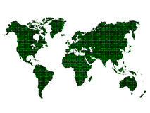 Digital world map Royalty Free Stock Images