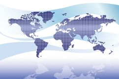 Digital world map Stock Image