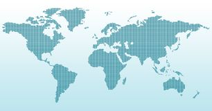 Digital world map Stock Photography