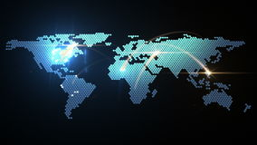 Digital world map animation Stock Photo