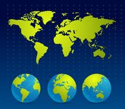 Digital World map Background Stock Photo