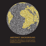 Digital world map, global concept, vector illustration Stock Photo