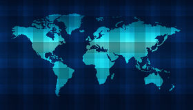 Digital world map Stock Image