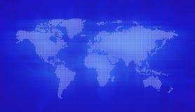 Digital world map. Technology style vector illustration