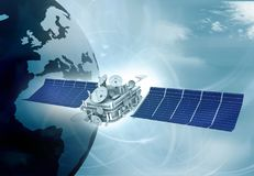 Digital world with Satellite Stock Photography