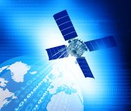 Digital world with Satellite networking Royalty Free Stock Images