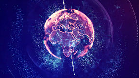 Digital World Showing Africa and Europe Continent Royalty Free Stock Photos