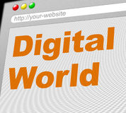 Digital World Shows Globalise Electronic And Globalization Royalty Free Stock Photo