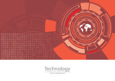 Digital World of Technology Vector Background Stock Images