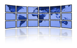 Digital world television. TV movie panels stock illustration