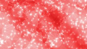 Digital world transformation connected lines and dots pattern. Connected dots with lines and graphic world map, creative abstract background. Global business or royalty free stock images