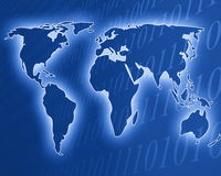 Digital worldmap Stock Photography