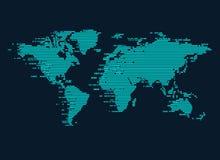 Digital Worldmap stock illustration