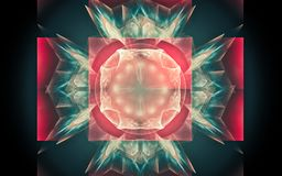 Digital wytwarza? wizerunek w postaci abstrakcjonistycznych geometrycznych kszta?t?w r??norodni cienie i kolory dla u?ywaj? w sie ilustracji
