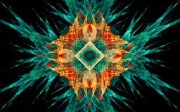 Digital wytwarza? wizerunek w postaci abstrakcjonistycznych geometrycznych kszta?t?w r??norodni cienie i kolory dla u?ywaj? w sie royalty ilustracja