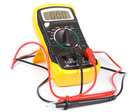 Digital yellow multimeter Stock Photography