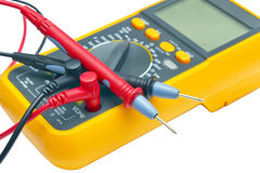 Digital yellow multimeter Stock Image