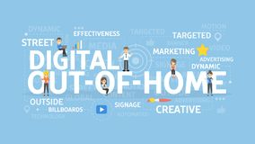 Digital z domu ilustracji