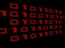 Digital-Zahlen stock abbildung