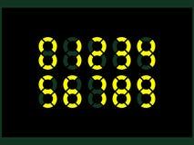 Digital-Zahlen, die in zwei Kreisen eingeschrieben werden, schaffen einen Satz ursprüngliche Symbole vektor abbildung
