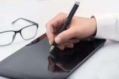 Digital-Zeichnung oder -schreiben lizenzfreie stockbilder