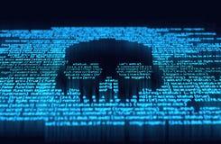 Digital-Zerhacken und -Online-Kriminalität stock abbildung