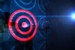 Digital-Ziel über Datenverarbeitungsdesign Lizenzfreies Stockfoto