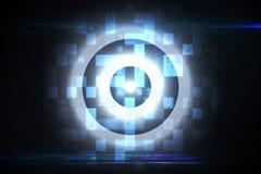 Digital-Ziel über Datenverarbeitungsdesign Lizenzfreies Stockbild