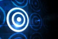 Digital-Ziel über Datenverarbeitungsdesign Lizenzfreie Stockfotos