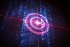Digital-Ziel über Datenverarbeitungsmatrix Lizenzfreie Stockfotos