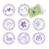 Digital znaczki ustawiający Fotografia Stock