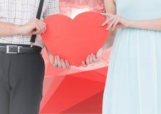 Digital-Zusammensetzung von liebevollen Paaren Stockbilder