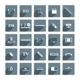 Digitala apparater för symboler, vektorillustration Arkivfoton