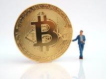 Digitala Bitcoin Arkivfoto