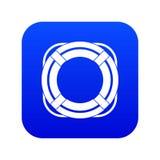 Digitala blått för livbojsymbol vektor illustrationer