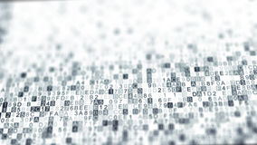 Digitala data förhäxer kodsymboler med DOF vektor illustrationer