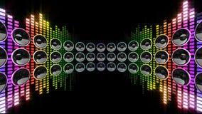 Digitala grafiska resurser f?r abstrakt bl? bakgrund stock illustrationer