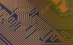Digitala huvudvägar för strömkretsbräde arkivfoto